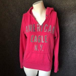 American Eagle pink hoodie